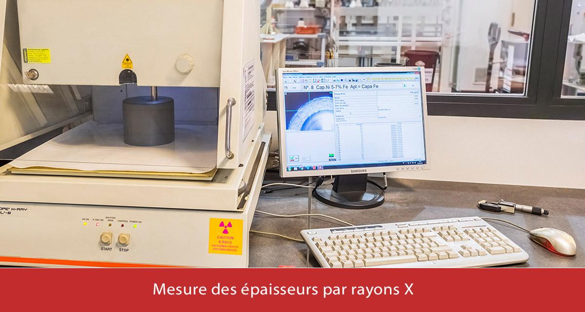 Medición de espesores mediante rayos X